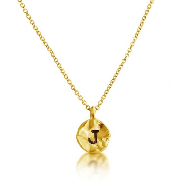 Gold plated necklace Letter J Passion Initial