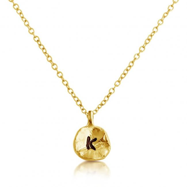 Gold plated necklace Letter K Passion Initial