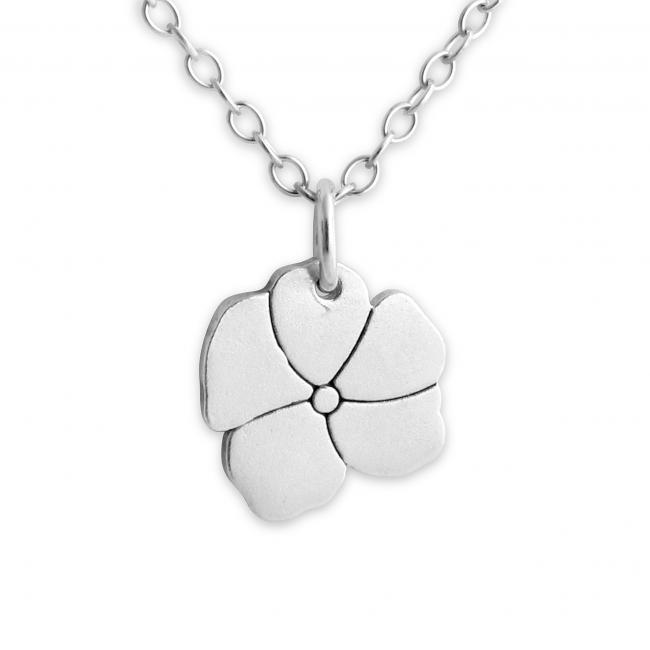 925 sterling silver necklace Blooming Flower