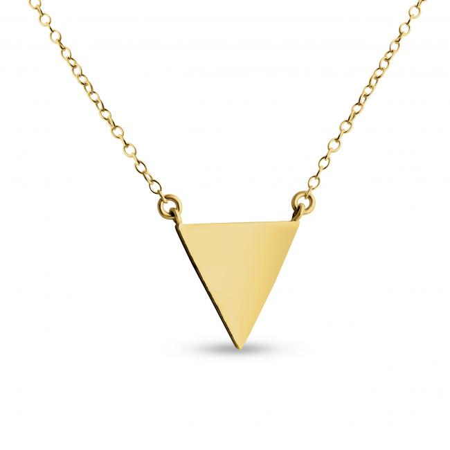Gold plated necklace Delta Solid Triangle