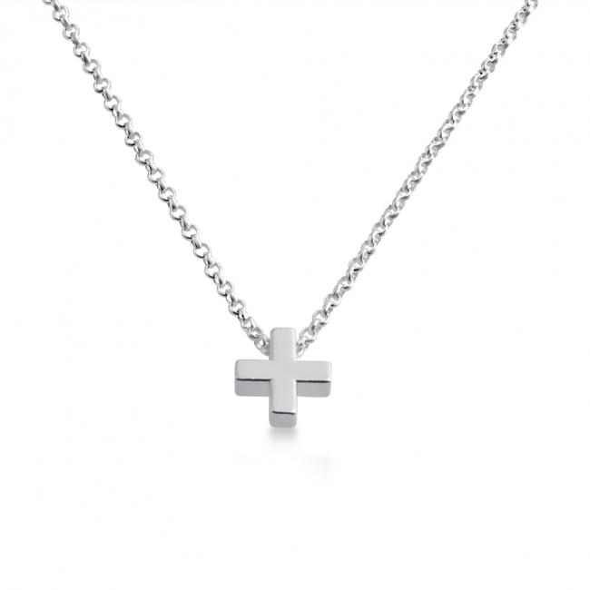925 sterling silver necklace Initial Letter (+) Personalized Symbols & Letters Serif Font