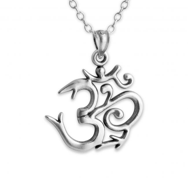 925 sterling silver necklace Sanskrit Om