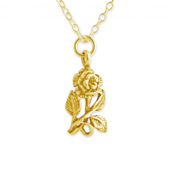 Gold plated necklace Rose