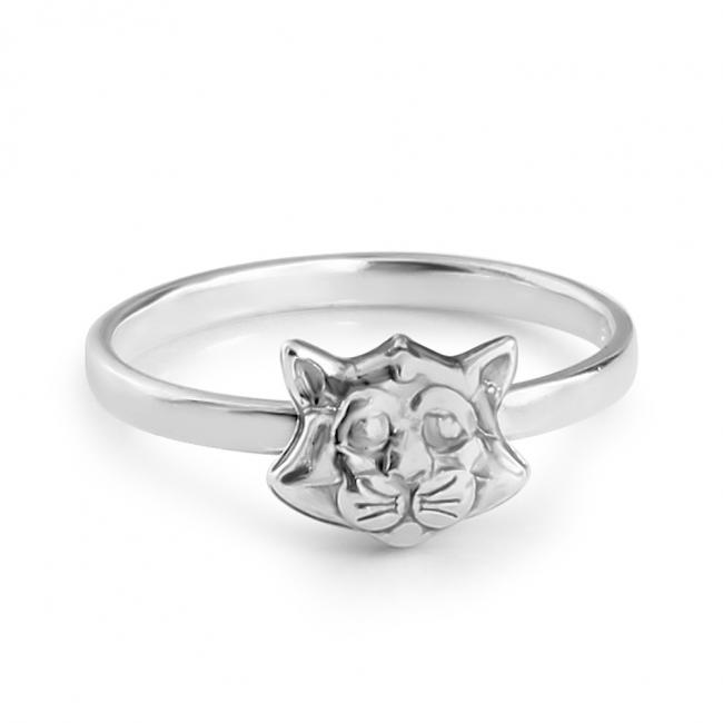 925 sterling silver ring Cat