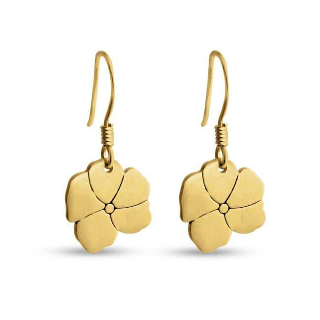 Gold plated earrings Blooming Flower