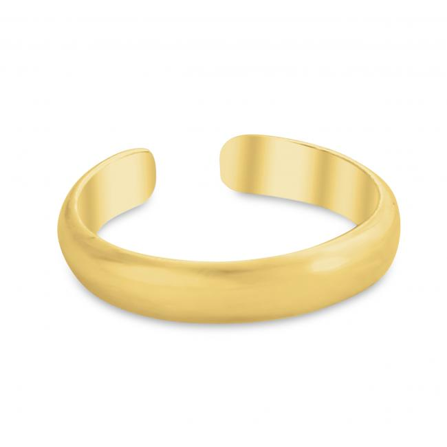 Gold plated ring Plain Curved Adjustable Toe Ring