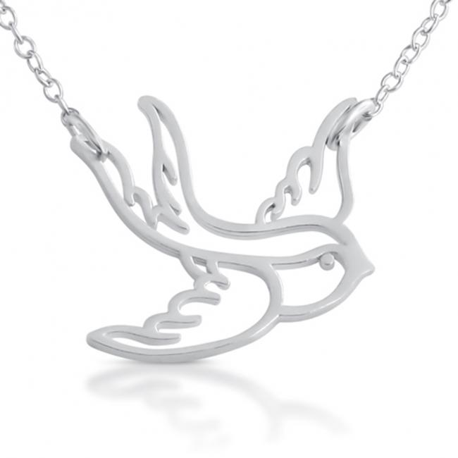925 sterling silver necklace Big Swallow