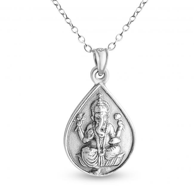 925 sterling silver necklace Ganesha Elephant