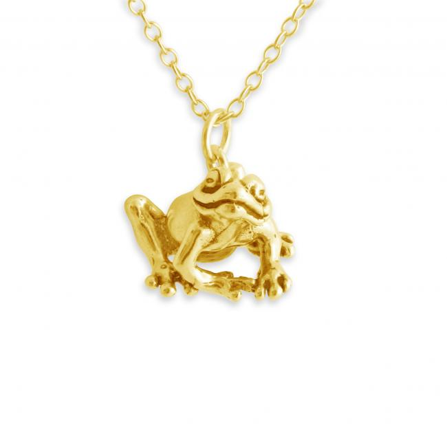 Gold plated necklace Happy Frog