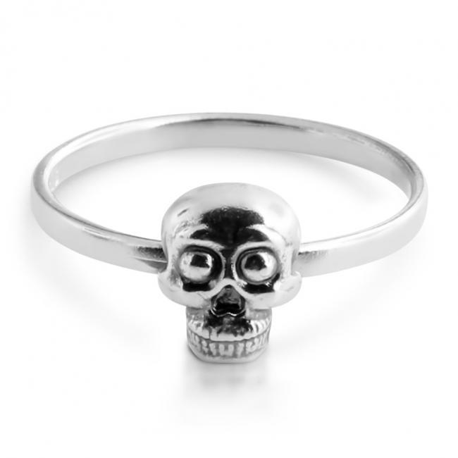925 sterling silver ring Skull