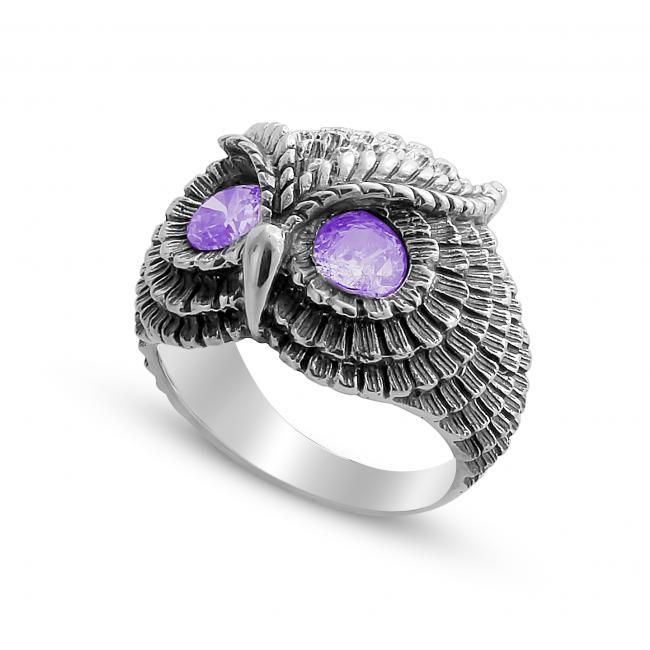 925 sterling silver ring Owl