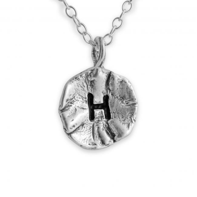 925 sterling silver necklace Letter H Passion Initial