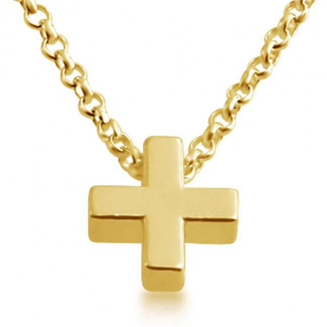 Gold plated necklace Initial Letter (+) Personalized Symbols & Letters Serif Font