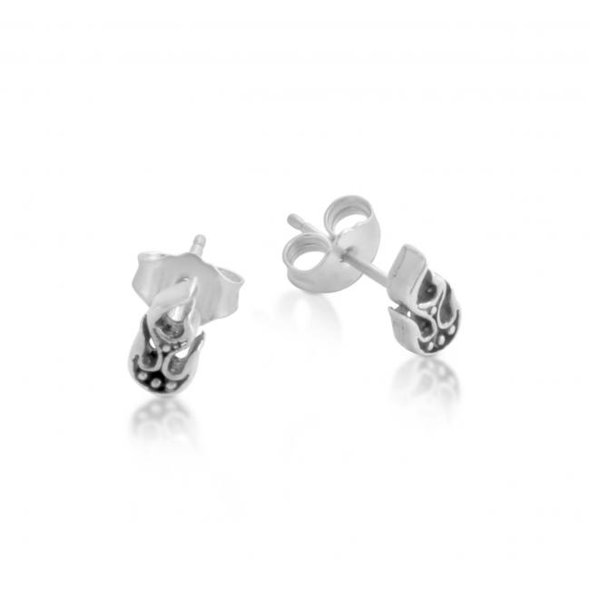 925 sterling silver earrings Stylized Flames