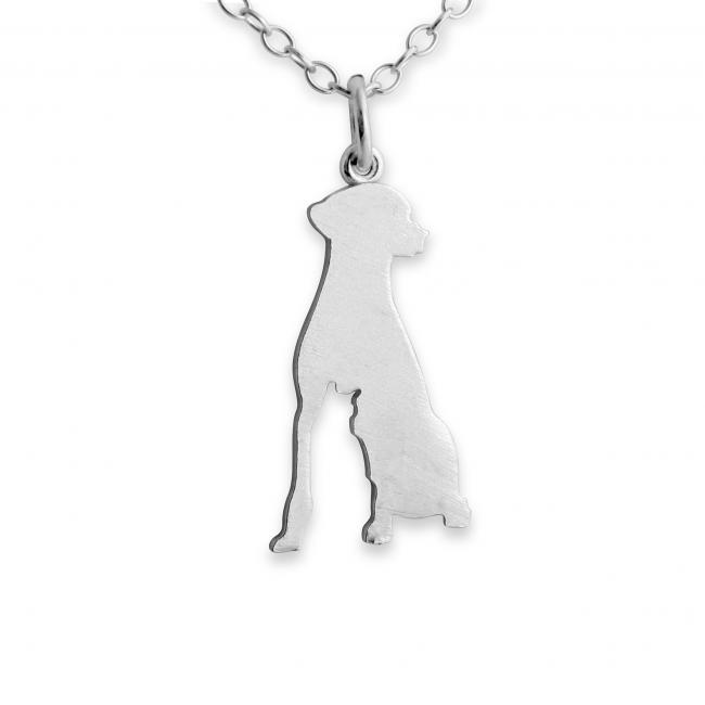 925 sterling silver necklace Dog (Silhouette)