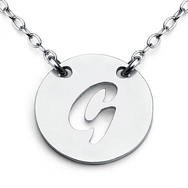 925 sterling silver necklace G Open Letter