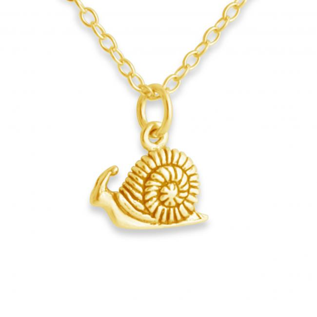 Gold plated necklace Snail