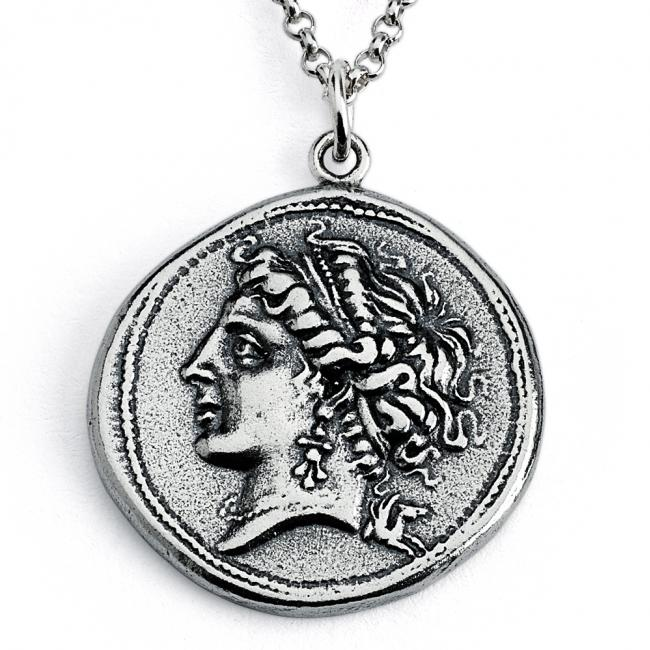 925 sterling silver necklace Replica Campania Neapolis Ancient COIN