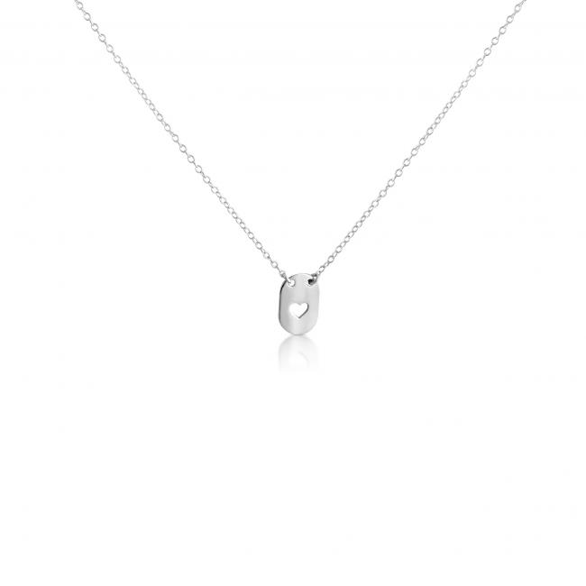 925 sterling silver necklace Heart Dog Tag