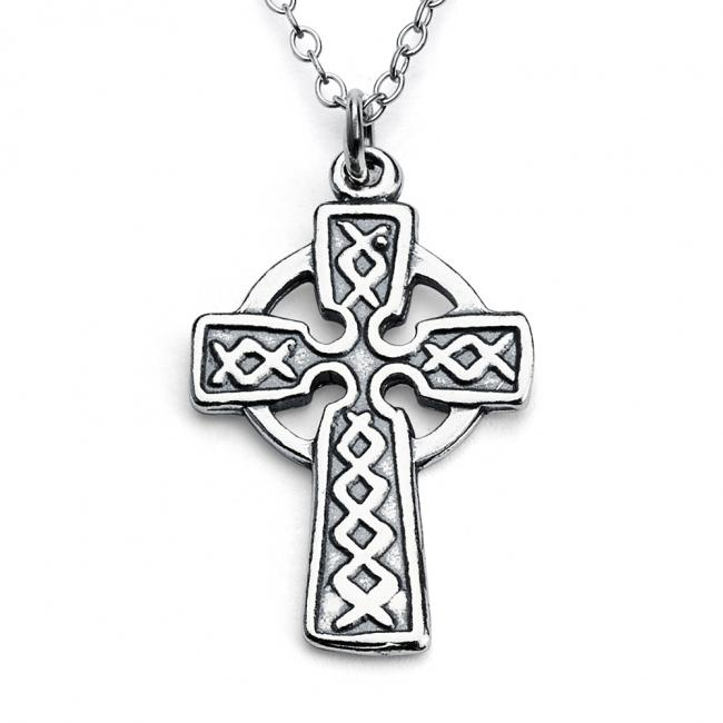 925 sterling silver necklace Celtic Cross Irish Religious