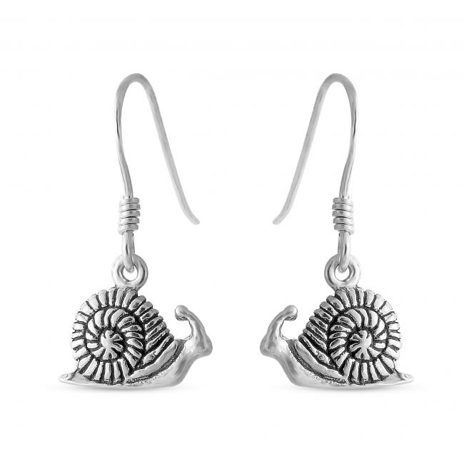 925 sterling silver earrings Snail