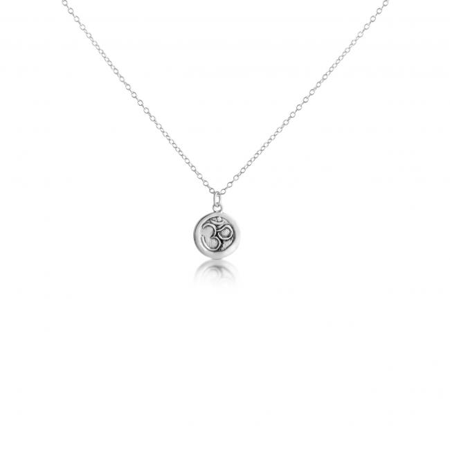 925 sterling silver necklace Om