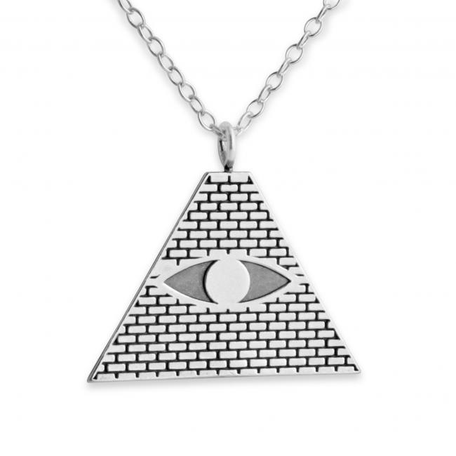 925 sterling silver necklace All Seeing Eye Pyramid