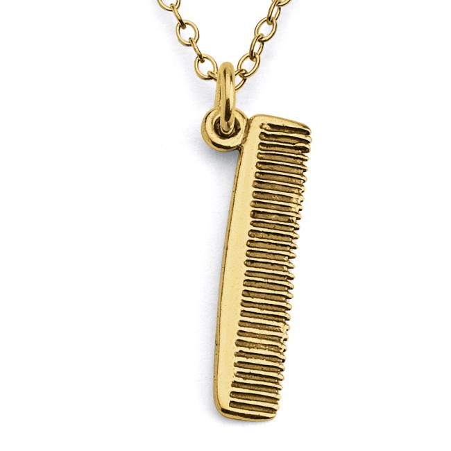 Gold plated necklace Mini Comb Hair Style Double Sided