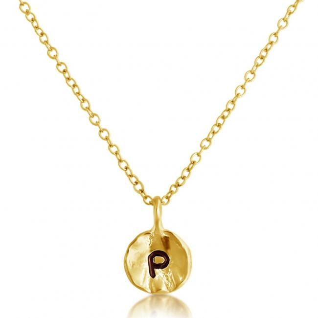 Gold plated necklace Letter P Passion Initial
