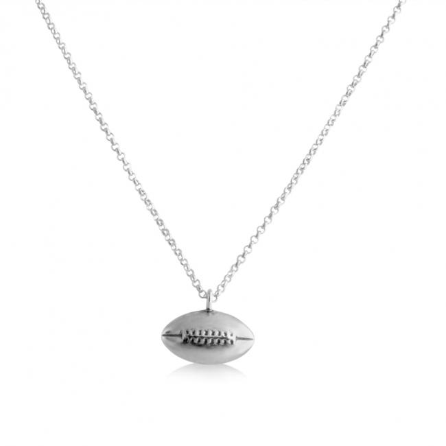 925 sterling silver necklace Football Touchdown Sport