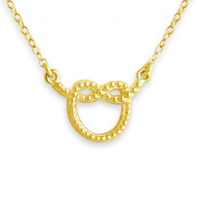 Gold plated necklace Dotted Heart