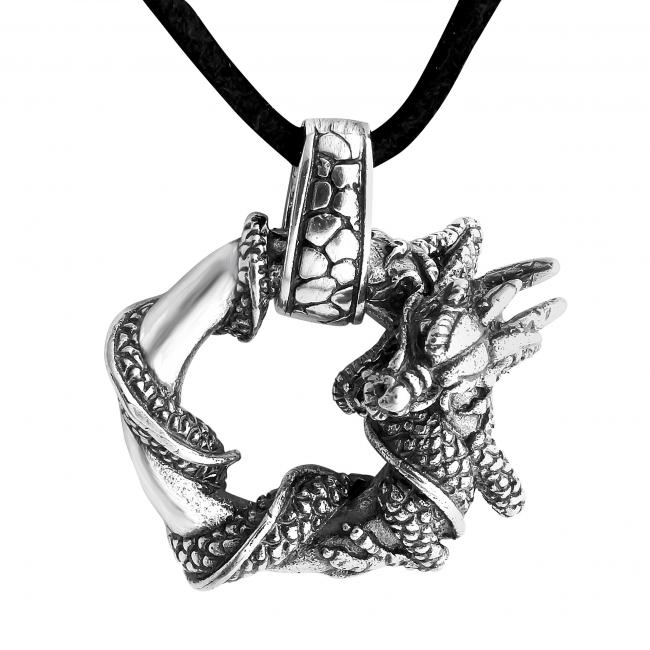 925 sterling silver necklace Ouroboros