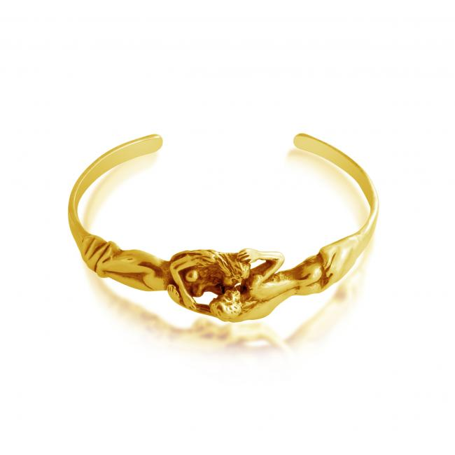 Gold plated bracelet Man + Woman