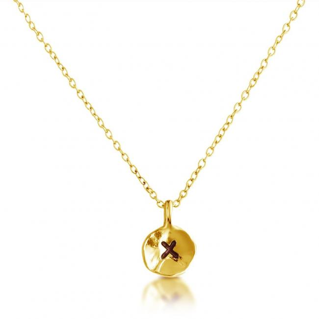 Gold plated necklace Letter X Passion Initial