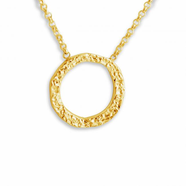 Gold plated necklace Karma Circle