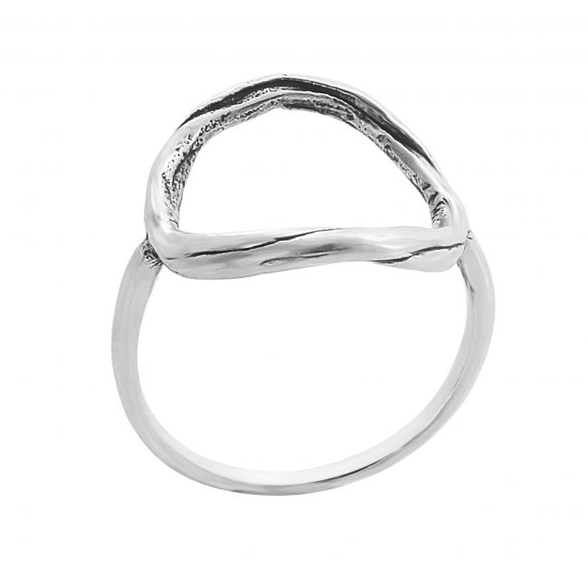 925 sterling silver ring Large Karma Ring