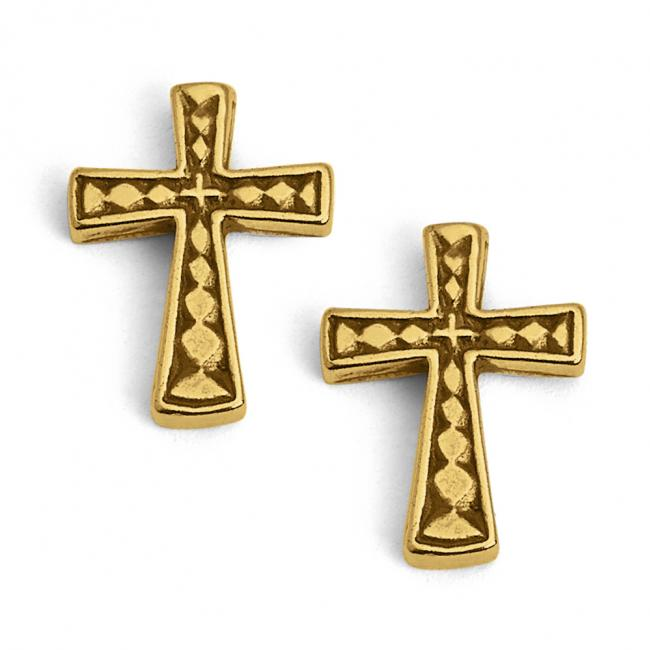 Gold plated earrings Holy Cross