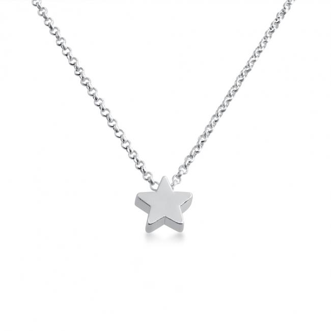 925 sterling silver necklace Initial Letter Star Personalized Symbols & Letters Serif Font
