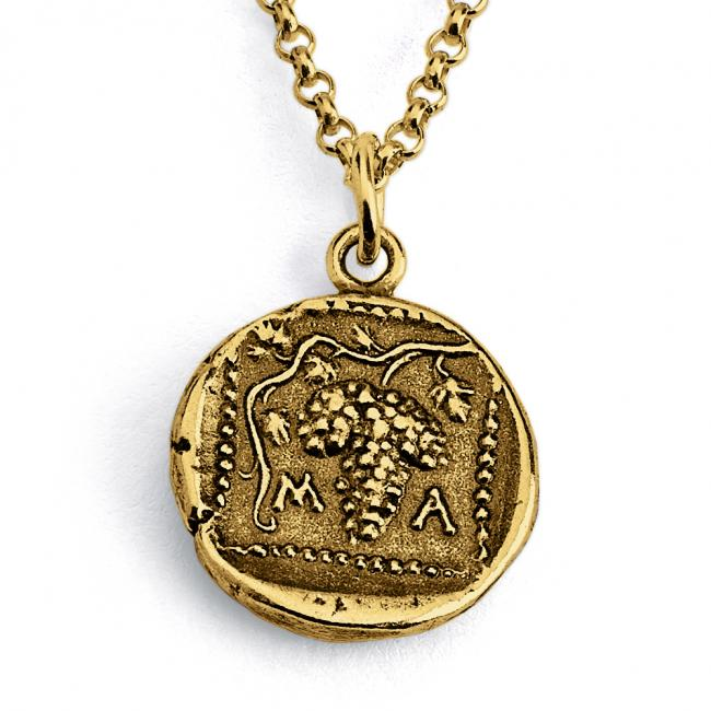 Gold plated necklace Replica Thrace of Maroneia Ancient COIN