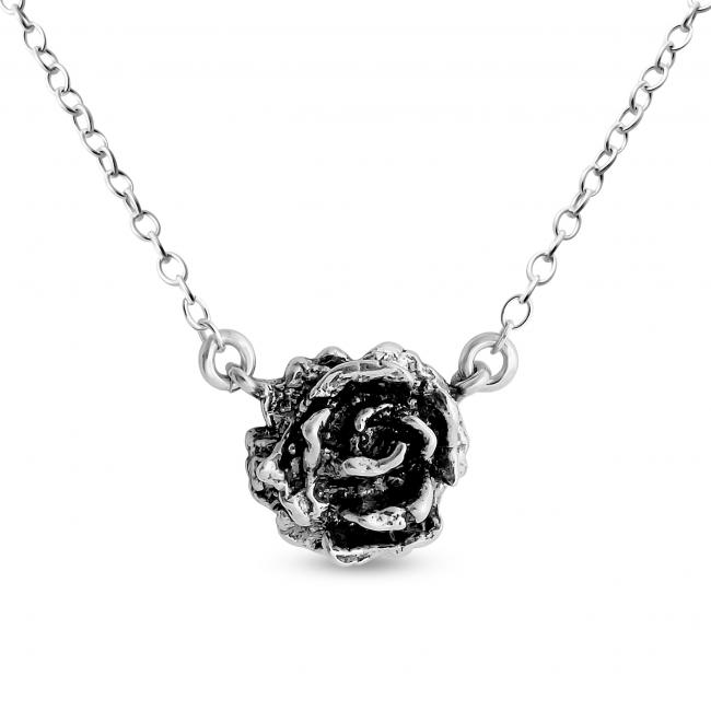 925 sterling silver necklace Tea Rose Jump Ring Necklace