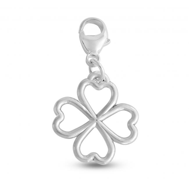 925 sterling silver necklace Valentines Array of Four Hearts Leaf Clover Lucky in Love