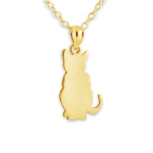 Gold plated necklace Kitty Cat