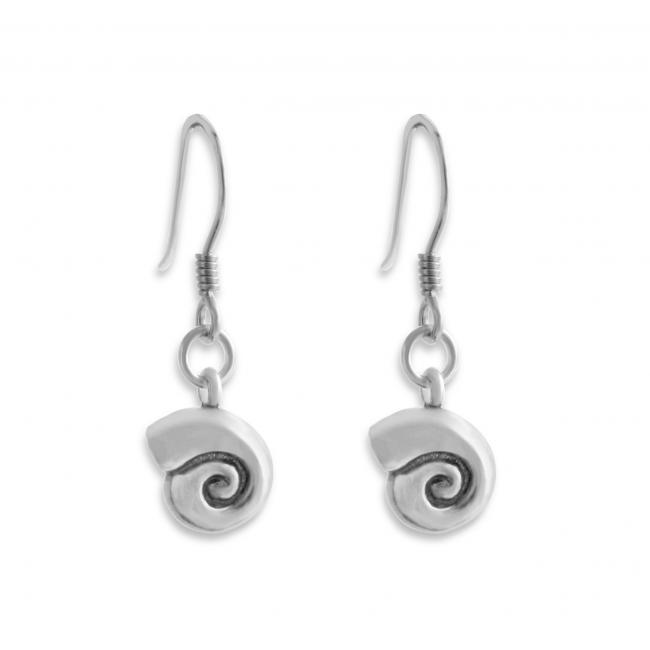 925 sterling silver earrings Snail Shell