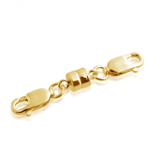 Gold plated magnetic Magnetic Clasps w/ 2 Lobster Claws