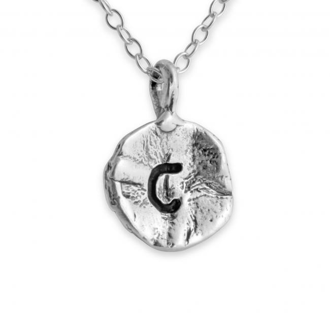 925 sterling silver necklace Letter C Passion Initial