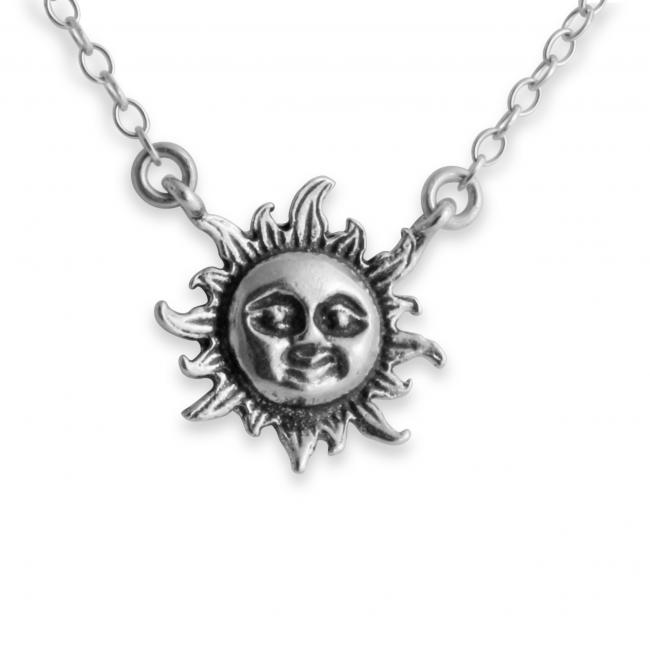 925 sterling silver necklace Sun Flare Jump Ring Necklace