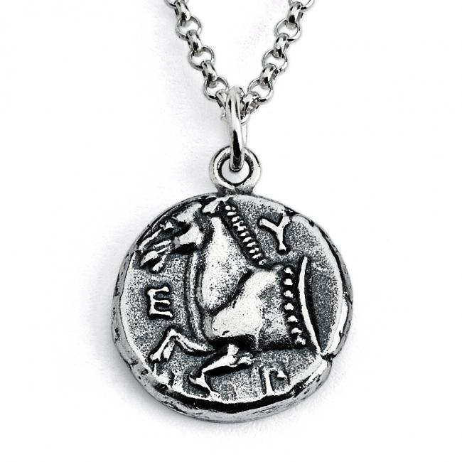 925 sterling silver necklace Replica Thrace of Maroneia Ancient COIN