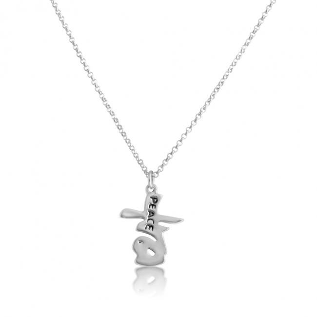 925 sterling silver necklace Chinese Peace Character Pendant