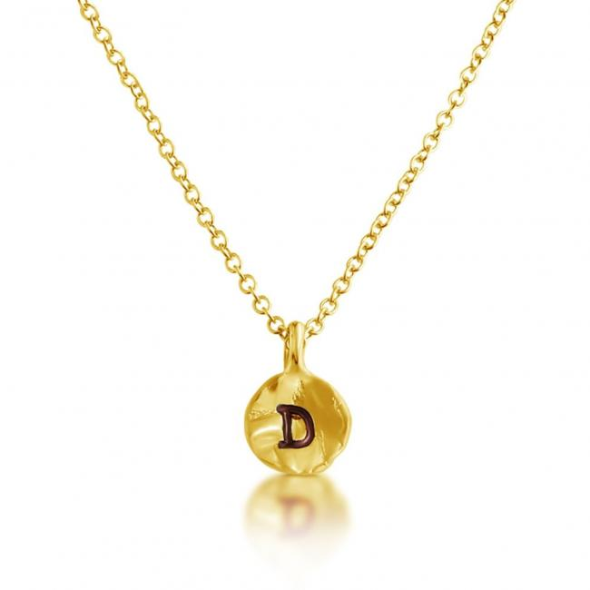 Gold plated necklace Letter D Passion Initial