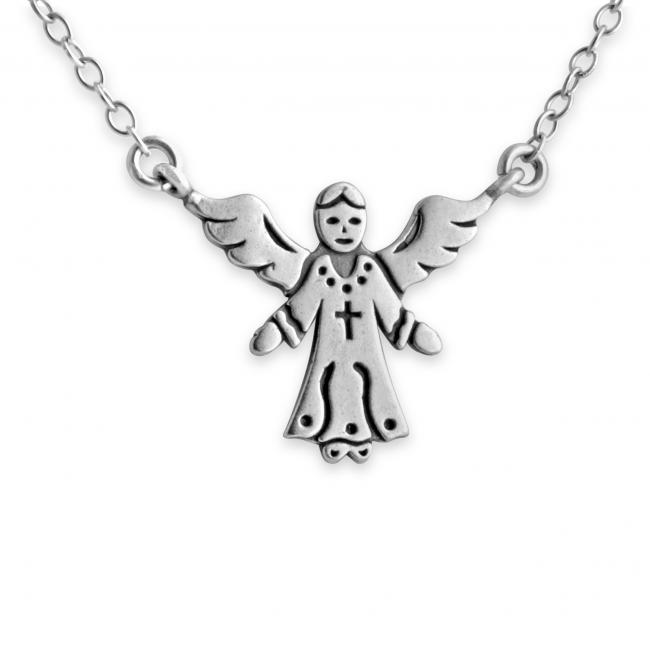 925 sterling silver necklace Angel Jump Ring Necklace
